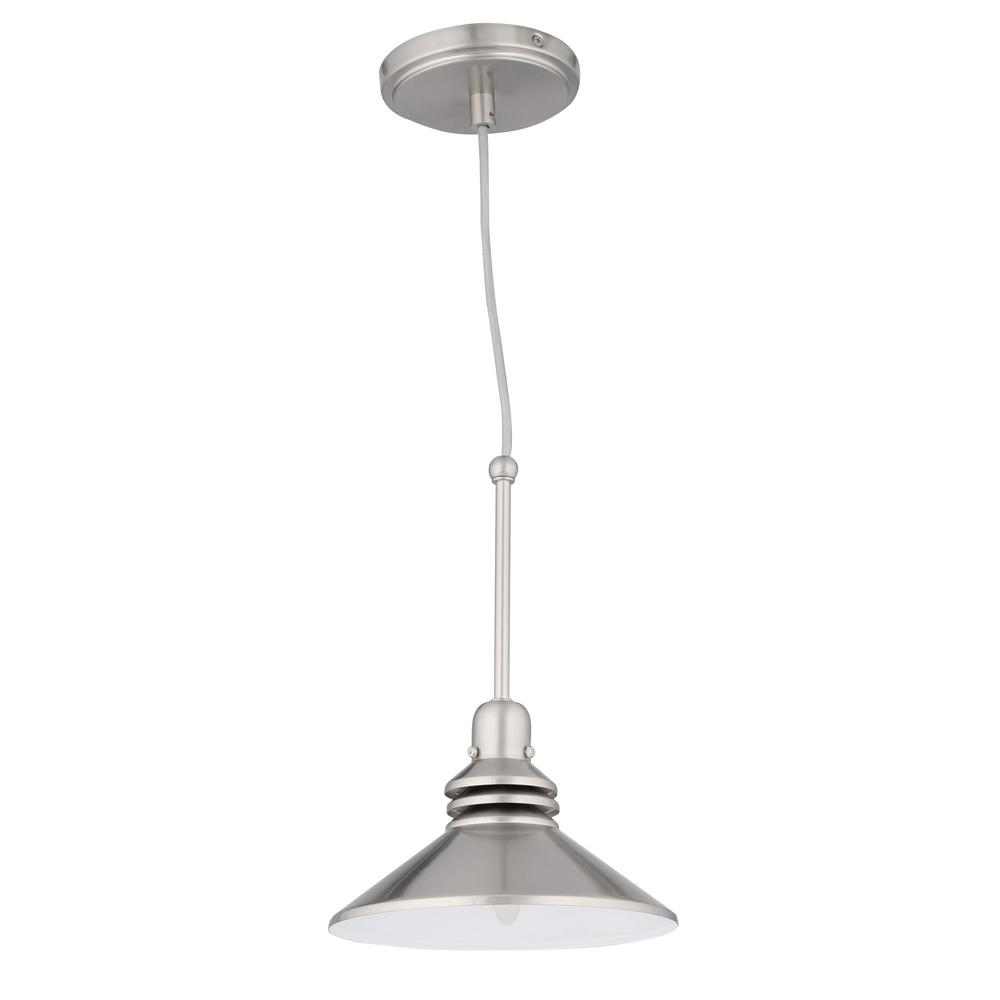 Track Light Head For Sale: Hampton Bay 86 In. 1-Light Brushed Nickel Pendant Track