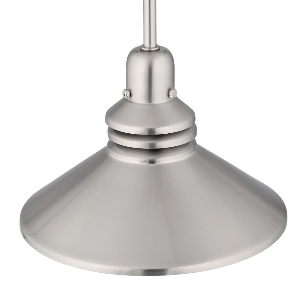 Hampton Bay 86 In 1 Light Brushed Nickel Pendant Track Lighting Fixture