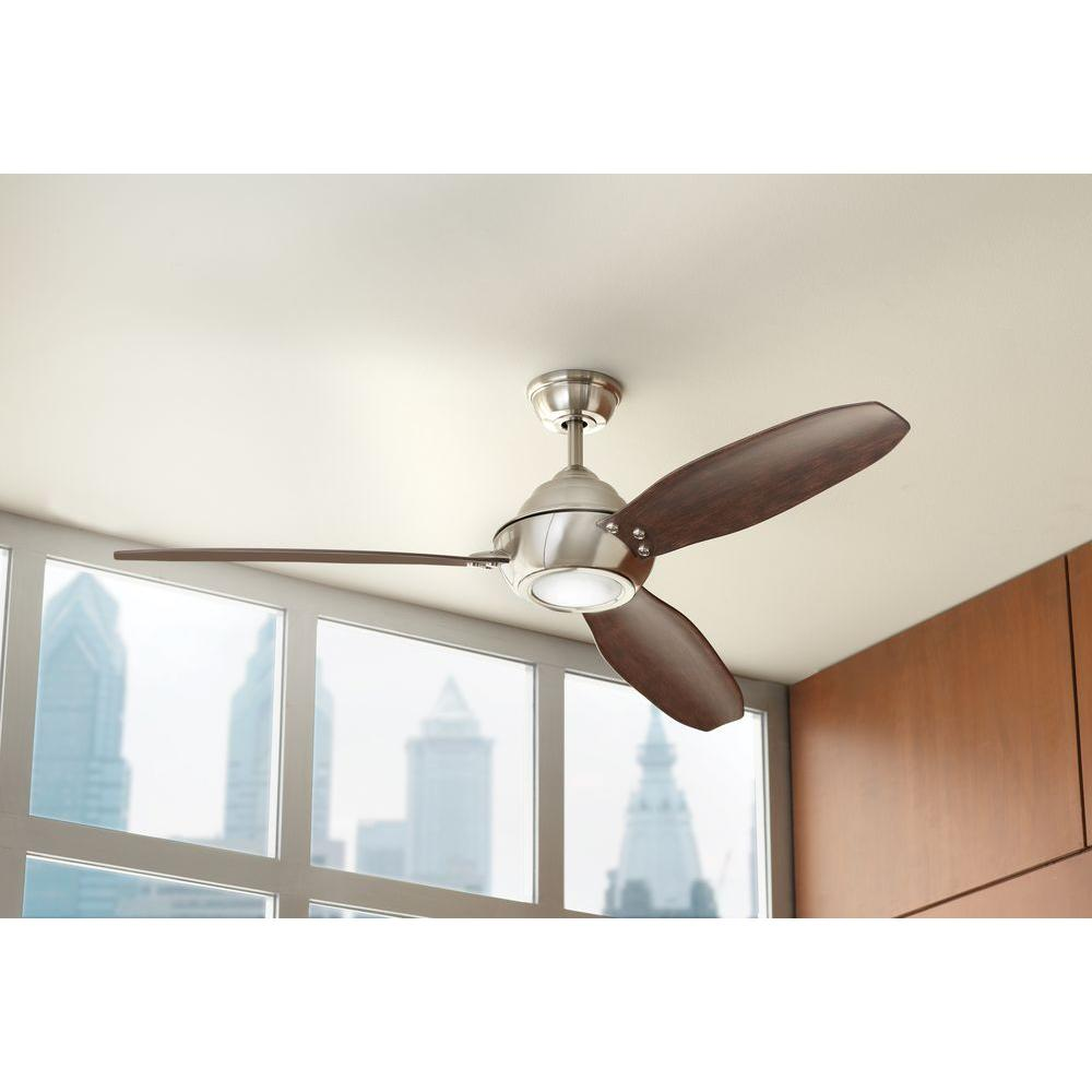 home decorators collection aero breeze aero 60 in integrated led indoor outdoor brushed 12785