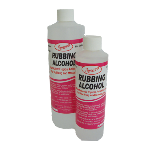 rubbing alcohol on skin