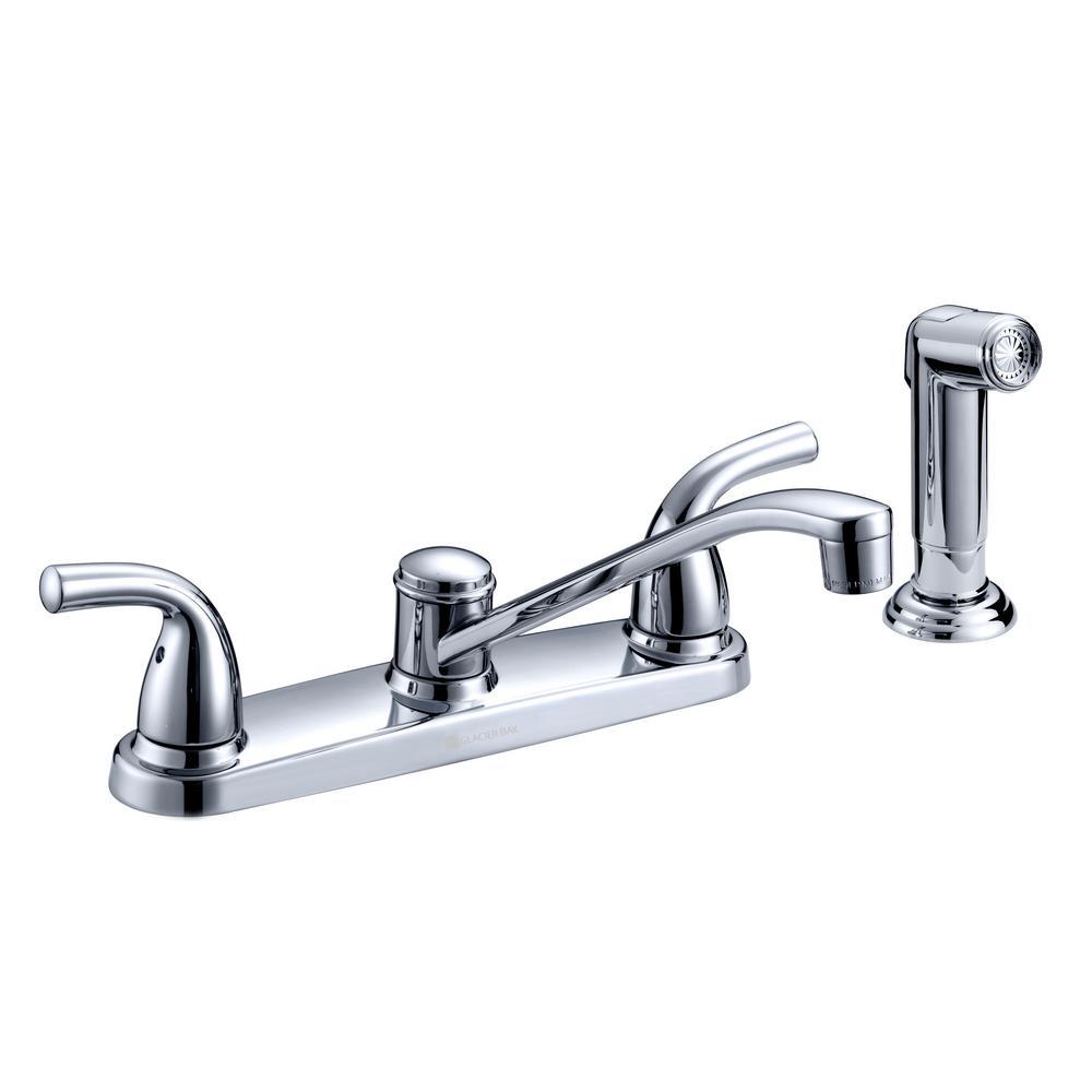 Glacier Bay Builders 2 Handle Standard Kitchen Faucet With