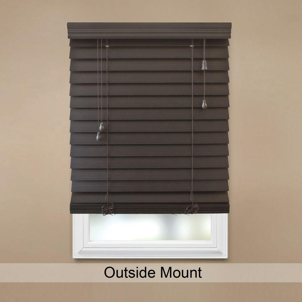 Espresso 2 1 2 In Premium Faux Wood Blind 34 In W X 64