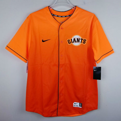 timeless design 4a940 8ccbf Nike San Francisco Giants Orange Fade Performance Baseball Jersey