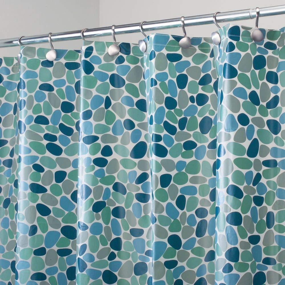 MDesign PEVA Shower Curtain Odorless Water Proof