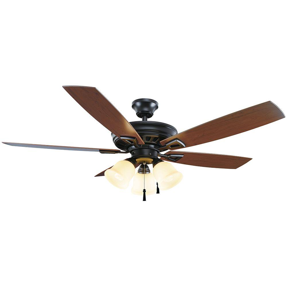 Gazelle 52 In Indoor Outdoor Natural Iron Ceiling Fan With Light Ac 552al Wiring