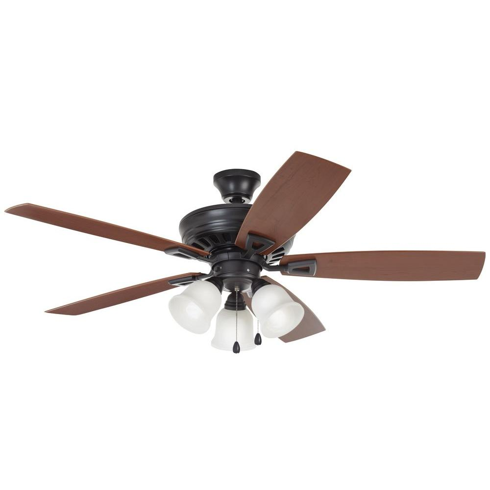 Gazelle 52 In Indoor Outdoor Natural Iron Ceiling Fan With Light Shop Hunter 4light Antique Pewter Kit At Lowescom