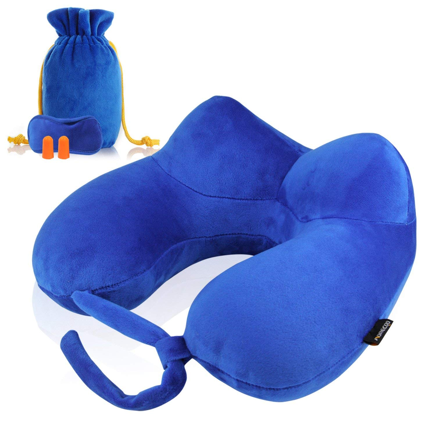 Inflatable U Shaped Portable Neck Pillow Set For Sale In