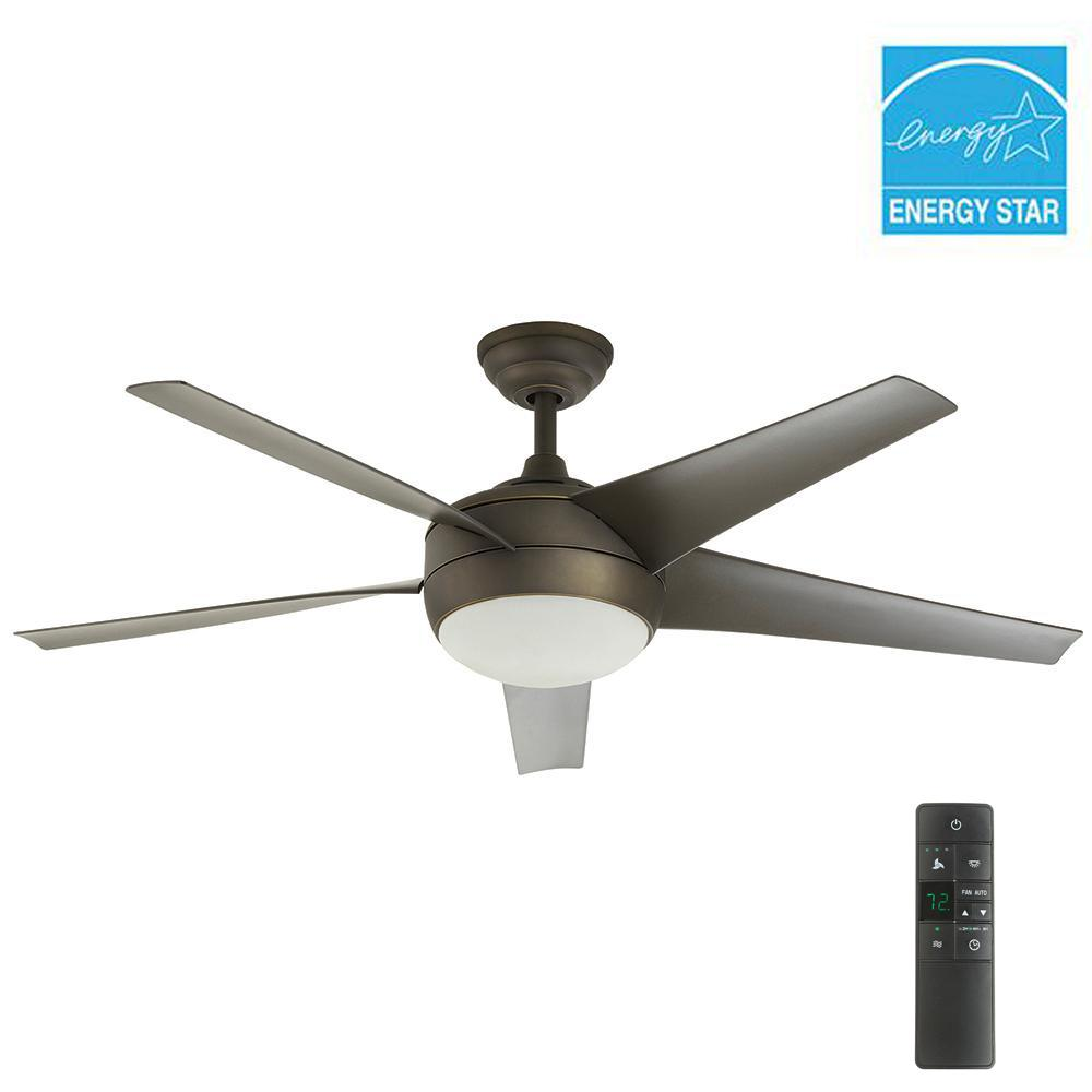 Windward iv 52 in indoor oil rubbed bronze ceiling fan with light windward iv 52 in indoor oil rubbed bronze ceiling fan with light kit and remote control aloadofball Choice Image