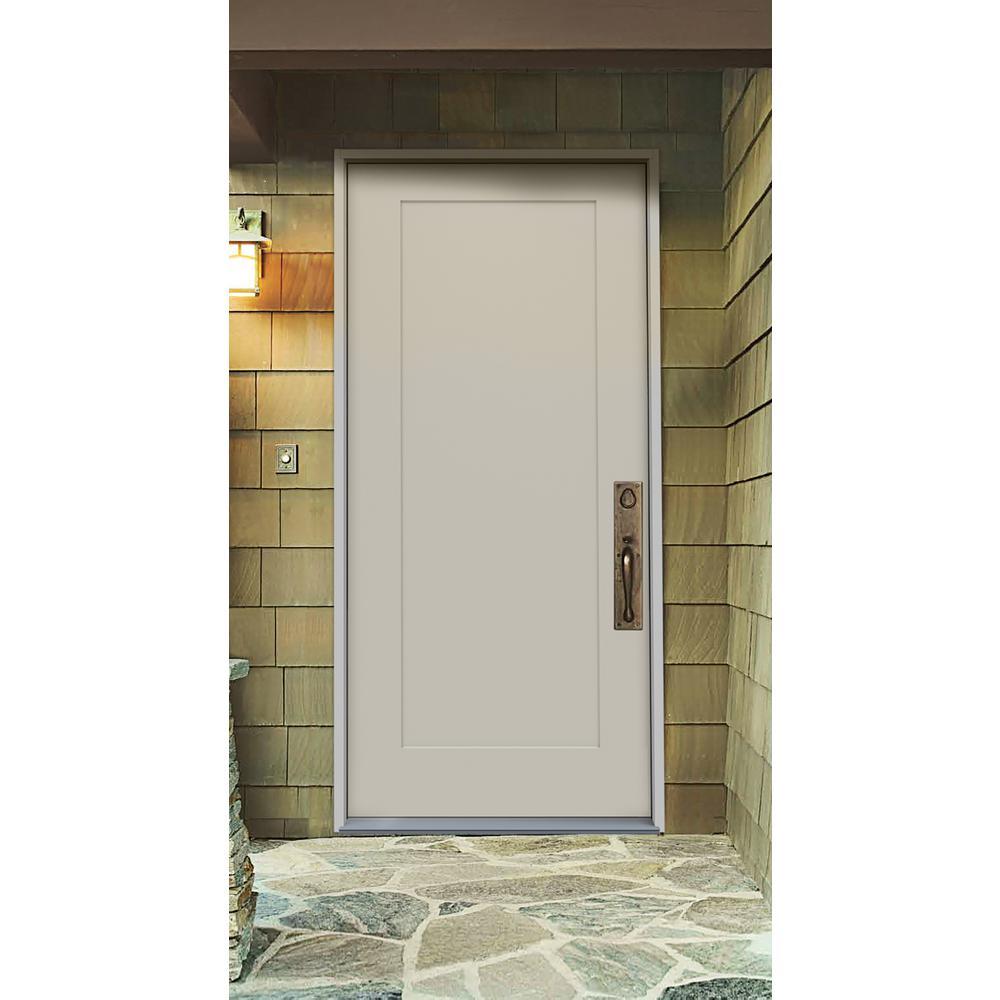 Jeld Wen 36 In X 79 In 1 Panel Craftsman Primed Steel Front Door Slab For Sale In Jamaica