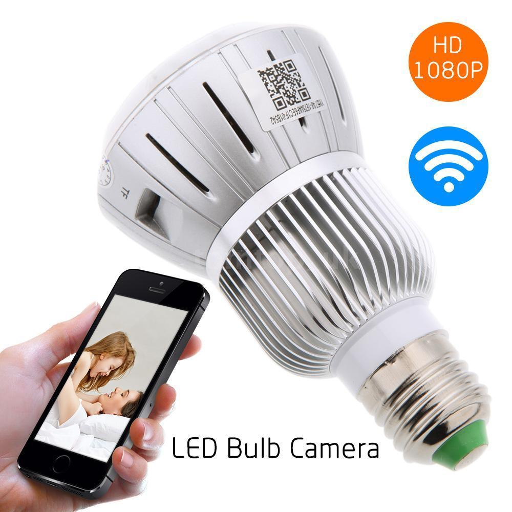 WIFI Hidden Wireless Camera With DVR Light Bulb Infrared ...