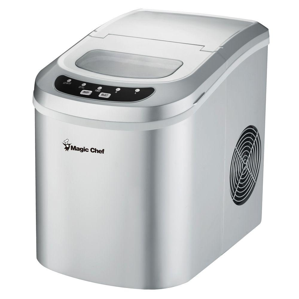 Magic Chef 27 Lb Portable Countertop Ice Maker In Silver
