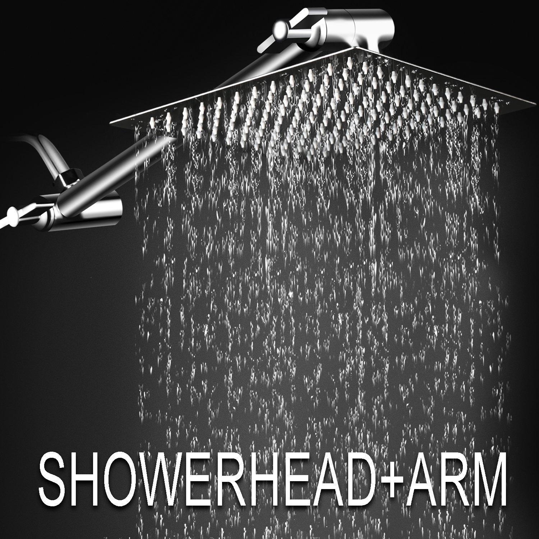 Rainfall Bath Shower Ultra Thin 12 Square Rain With 11