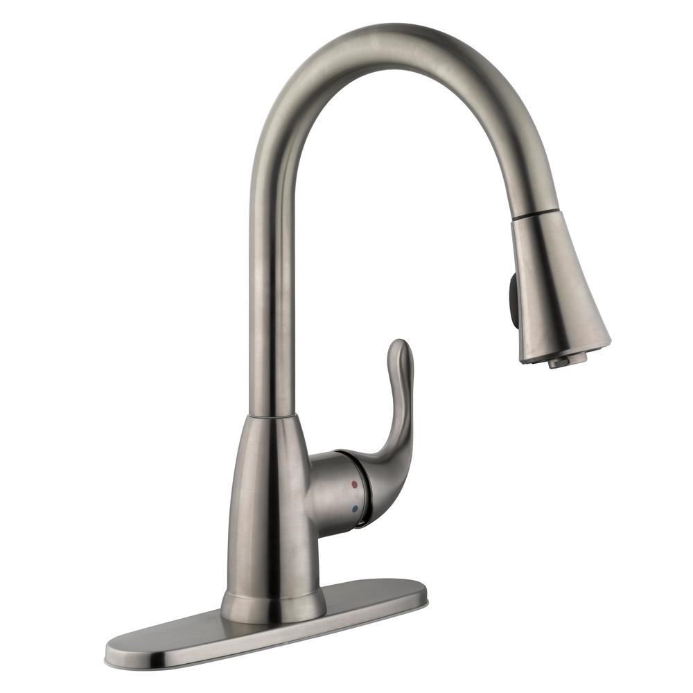 spray standard kitchen quince handle with faucets arc high kitchens steel down pull stainless faucet american