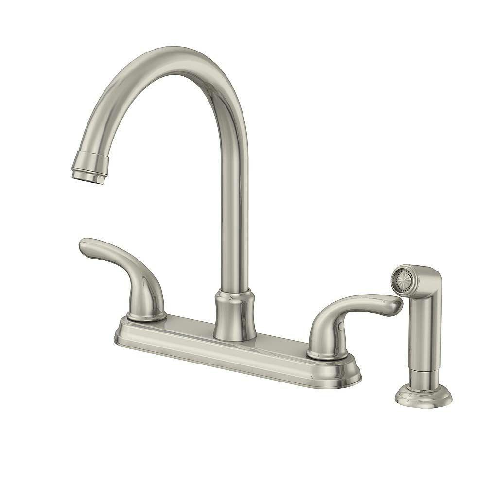 Glacier bay builders 2 handle standard kitchen faucet