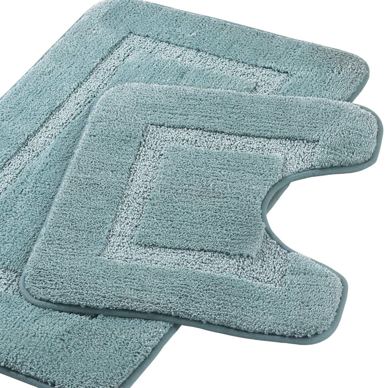 Set Soft Microfiber Shaggy Bathroom Rug