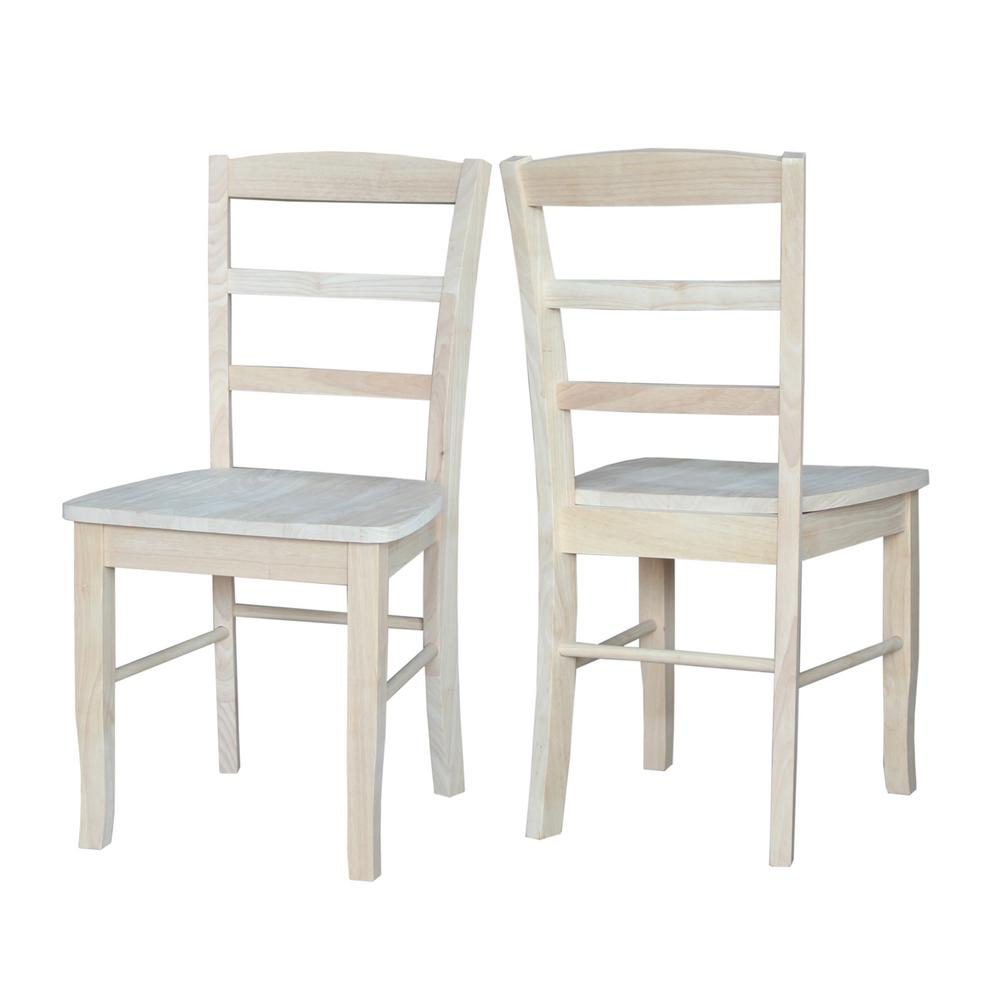 Unfinished Dining Room Chairs: International Concepts Unfinished Madrid Ladderback Dining