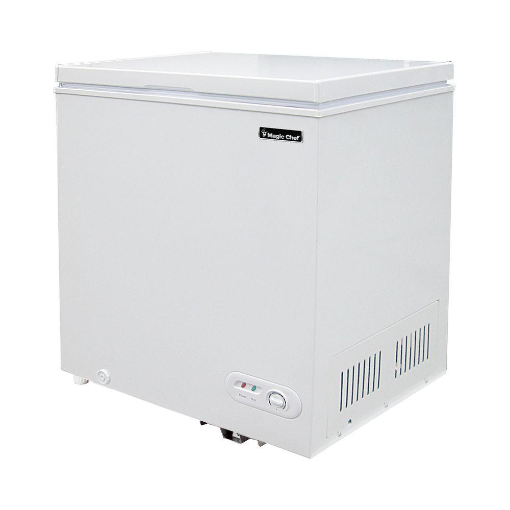 magic chef 5 2 cu ft chest freezer in white for sale in. Black Bedroom Furniture Sets. Home Design Ideas