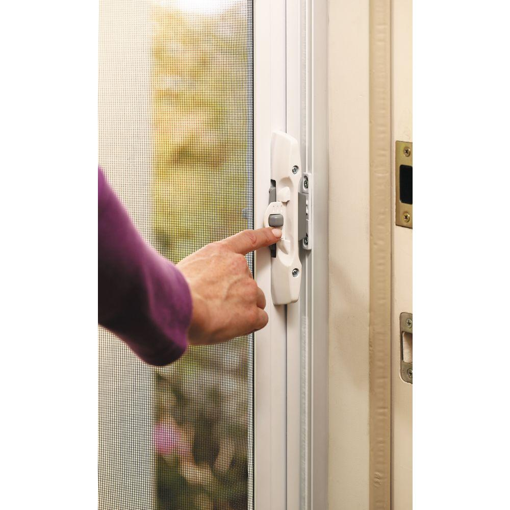 Odl 32 in x 80 in brisa white standard retractable for Retractable screen door white