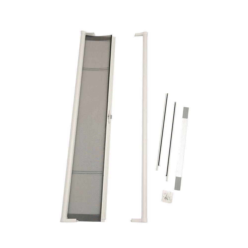 Odl 32 in x 80 in brisa white standard retractable - 30 x 80 exterior door with pet door ...
